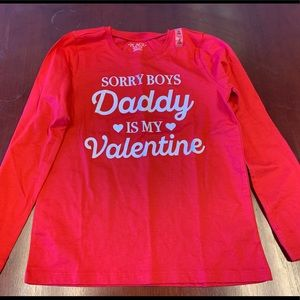 Children Place Girls ( 7/8) Valentine's Day Shirt